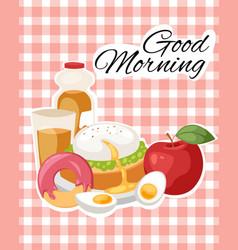 breakfast brunch banner concept vector image