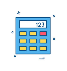 calculator business office icon design vector image