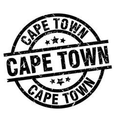 Cape town black round grunge stamp vector