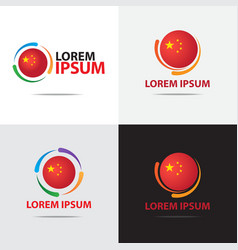 china logo vector image