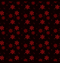 christmas seamless pattern of red snowflakes on vector image