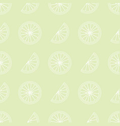 citrus slices seamless pattern in vintage style vector image