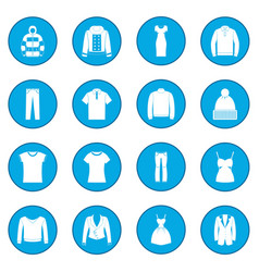Clothes icon blue vector
