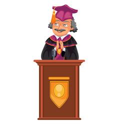 congrats graduation class colorful fat poster vector image