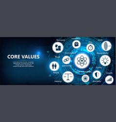 Core values outline vector