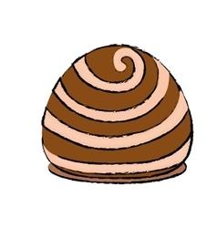 Dessert sweet roll vector image