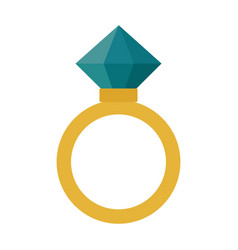 diamond ring - wedding or engagement vector image