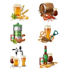 Draught Beer Set vector