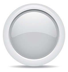 Empty symbol icon luxury gray metal circle vector