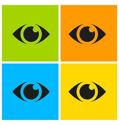 eyes set vector image