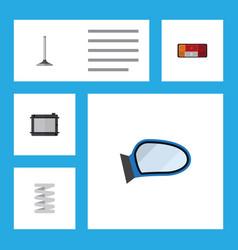 flat parts set of car segment heater auto vector image