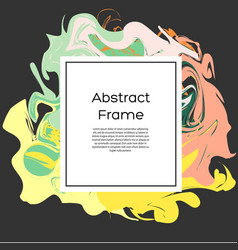 flyer design template abstract frame with vector image vector image