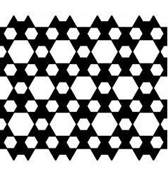geometric seamless pattern black white hexagons vector image