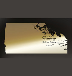 golden paint smear on dark background vector image