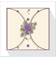 Greeting card with abstract roses vector