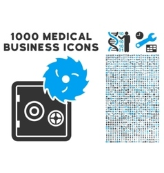 Hacking Theft Icon with 1000 Medical Business vector image