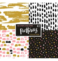 Hand drawn seamless patterns hipster backgrounds vector