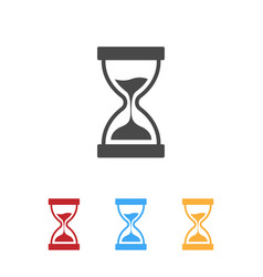 hourglass icons with color variation vector image