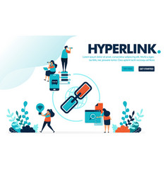 Hyperlink and share people share link for vector