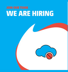 join our team busienss company cloud not working vector image