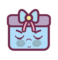 Kawaii angry and cute gift design vector