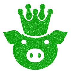 King pig icon grunge watermark vector