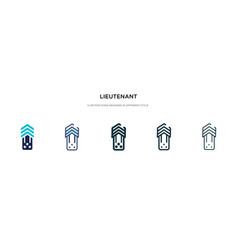 Lieutenant icon in different style two colored vector