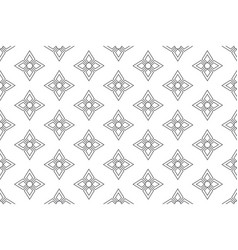 Line floral pattern seamless background vector