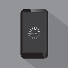 Loading screen on smartphone vector