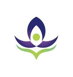 lotus beauty business logo vector image