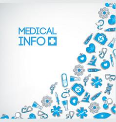 Medical info template vector