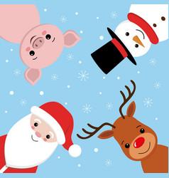 merry christmas leaflet design creative lettering vector image