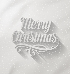 Merry Christmas lettering with long shadow vector image
