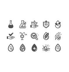 No artificial colors organic leaf icons vector