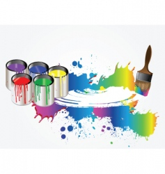 paint vector image