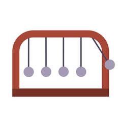 Pendulum newton s cradle swinging spheres vector