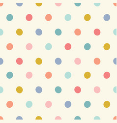 Polka dot pattern background design colourful vector