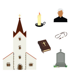 prayer priest pastor or preacher holy bible and vector image