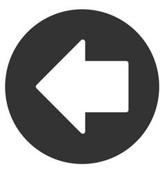 Previous arrow flat icon vector