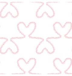 Seamless nautical romantic rope pattern vector image