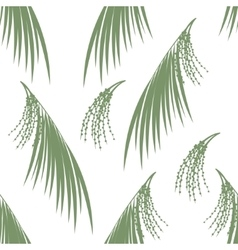 Seamless pattern berries and leaves of Acai palm vector image