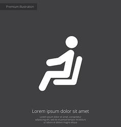 Seating man premium icon vector