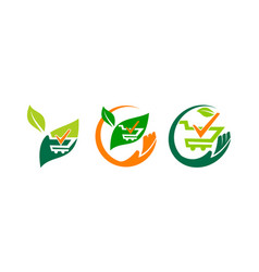Shop gardening verified set vector