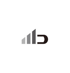 Signal letter mb symbol logo vector