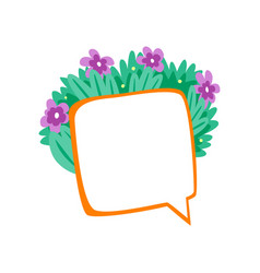 speech bubble decorated with summer flowers vector image
