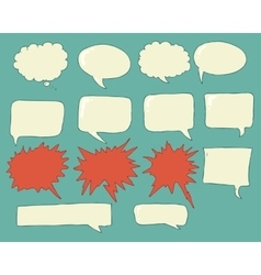 Speech bubbles voice bubble set hand drawing vector image