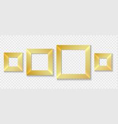 square golden frames set vector image