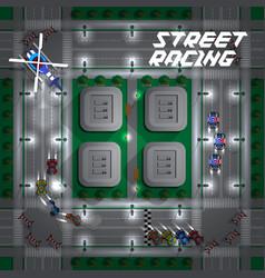 street racing vector image
