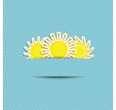 sun symbol background vector image vector image