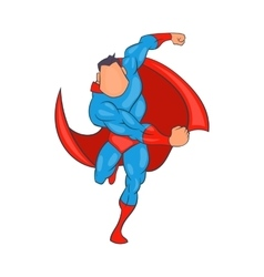 Superhero running icon cartoon style vector image